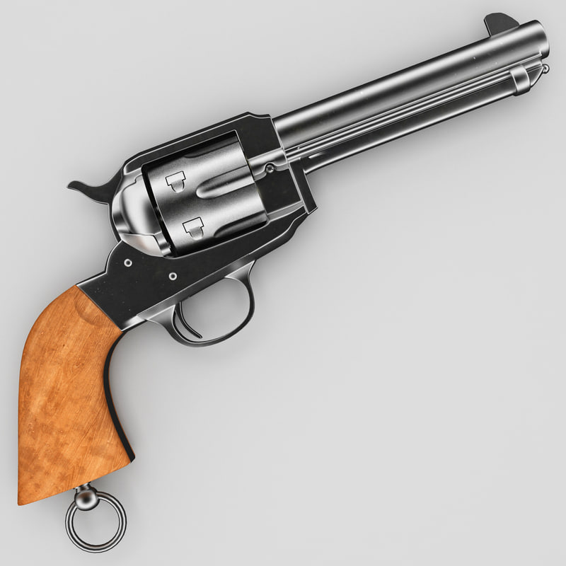 police revolver remington 3d model