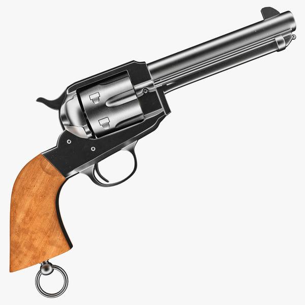 police revolver remington 3d model