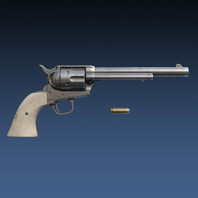 colt 45 revolver 3d 3ds