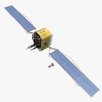 3d space satellite 2