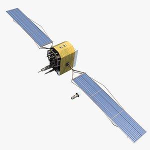 3d space satellite 2