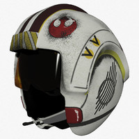 3d model luke x-wing pilot helmet