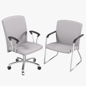 3d work visitor office chair