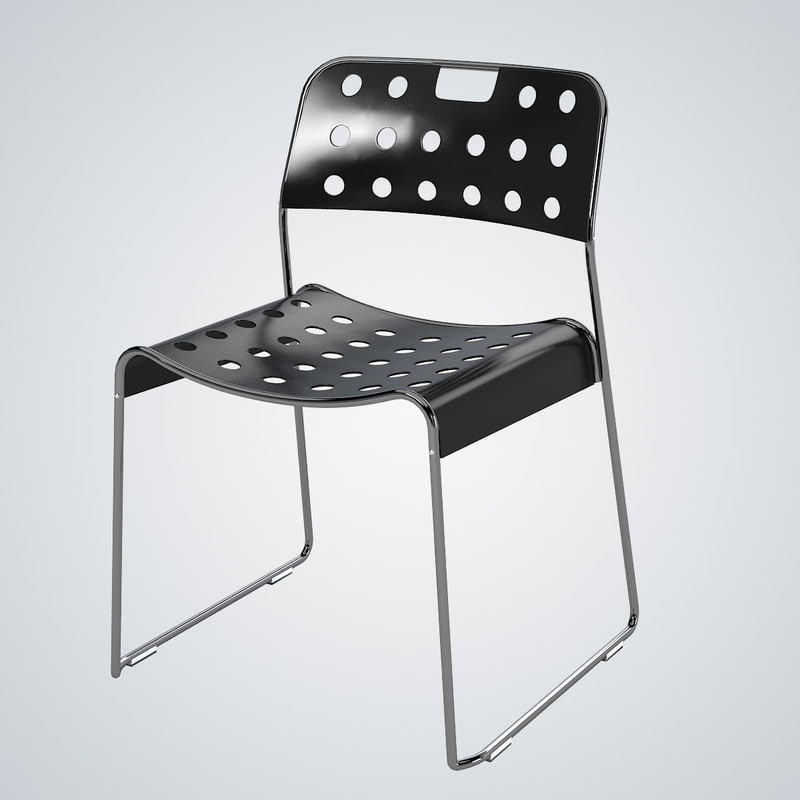 3d model omk classic stacking chair