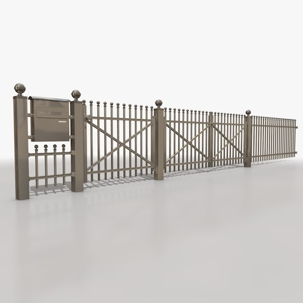 3ds max palisade fence