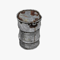 corroded barrel 3d model