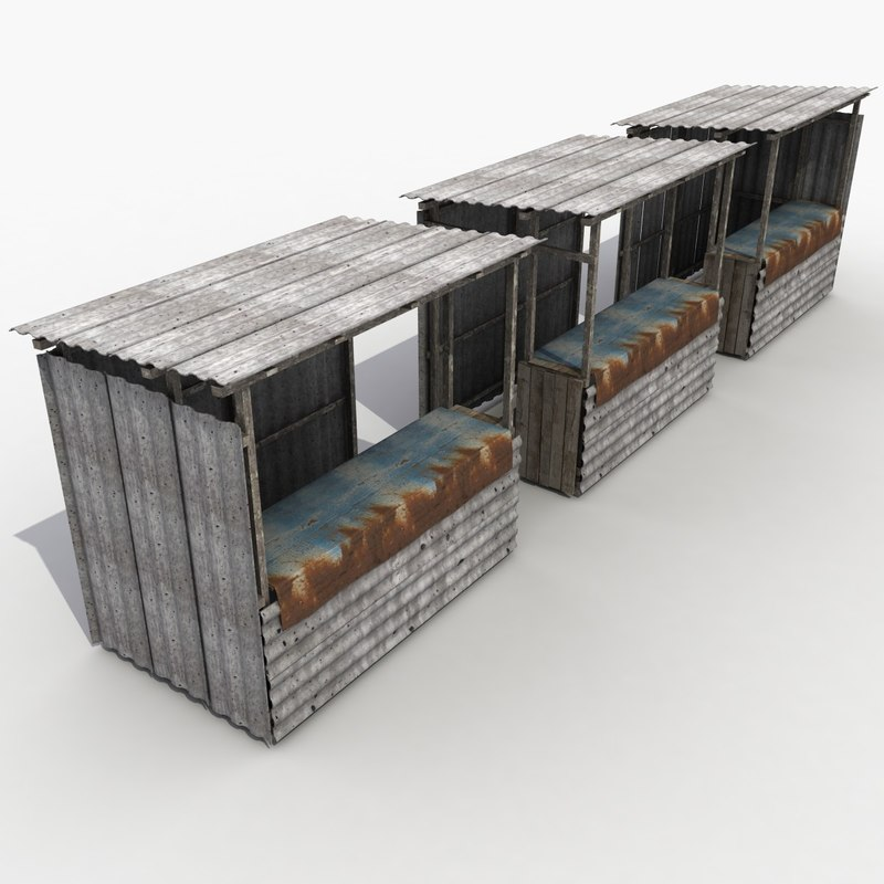 3dsmax stall modeled