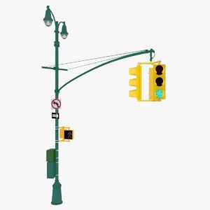 3ds max new york street light