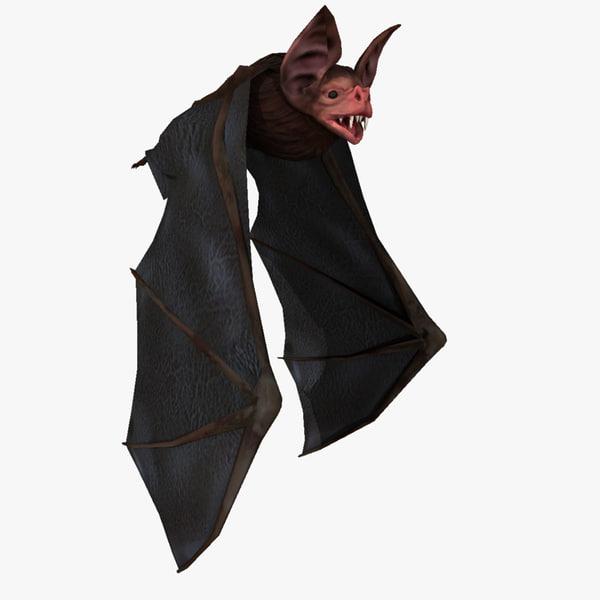 3d vampire bat fly animation