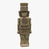 3d aztec stone