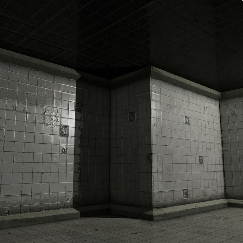 lwo underground grunge tile room