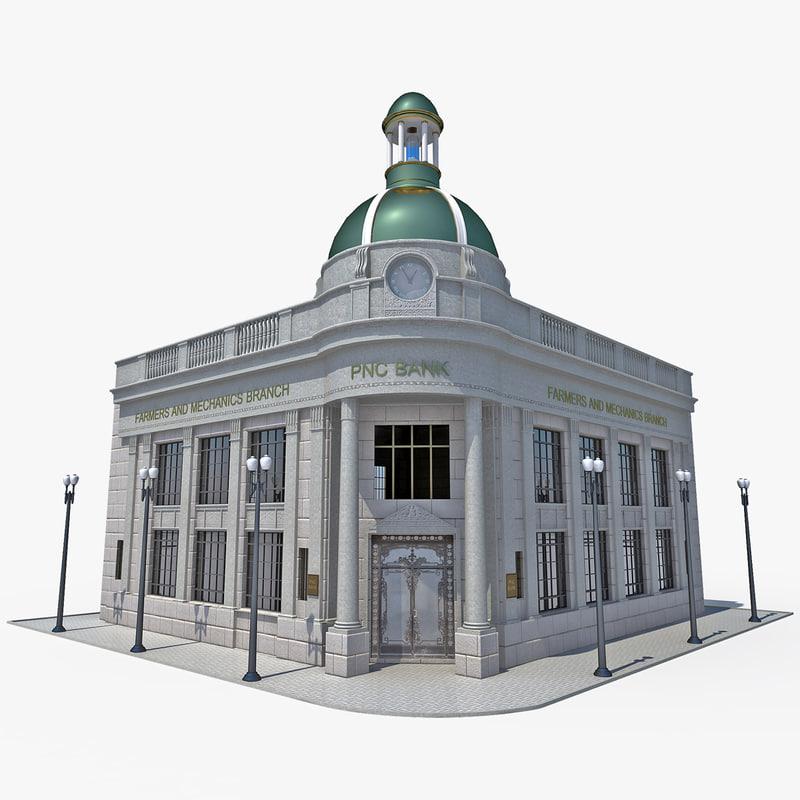 3d model riggs bank building