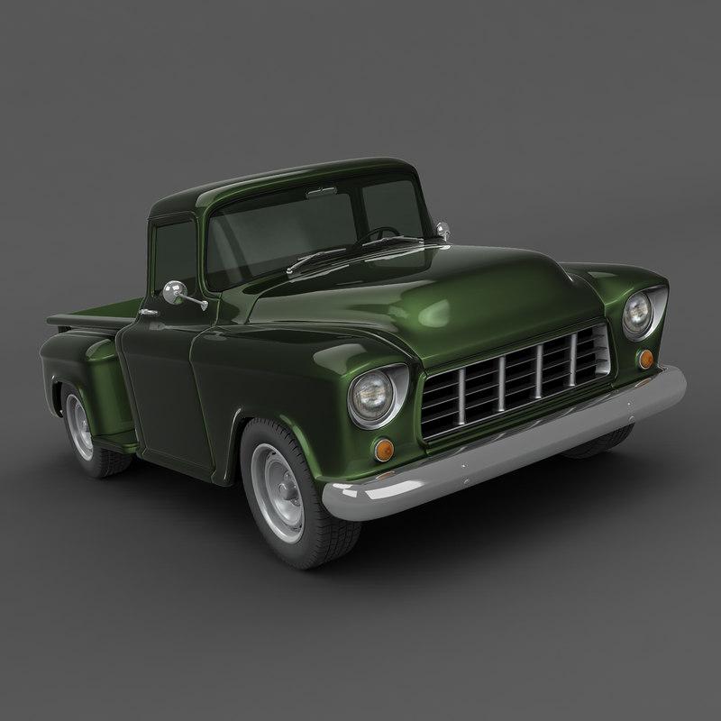 chevrolet truck 1956 3d max