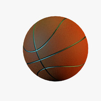 basketball ball basket 3d model