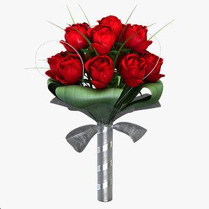 bouquet modelled 3d model