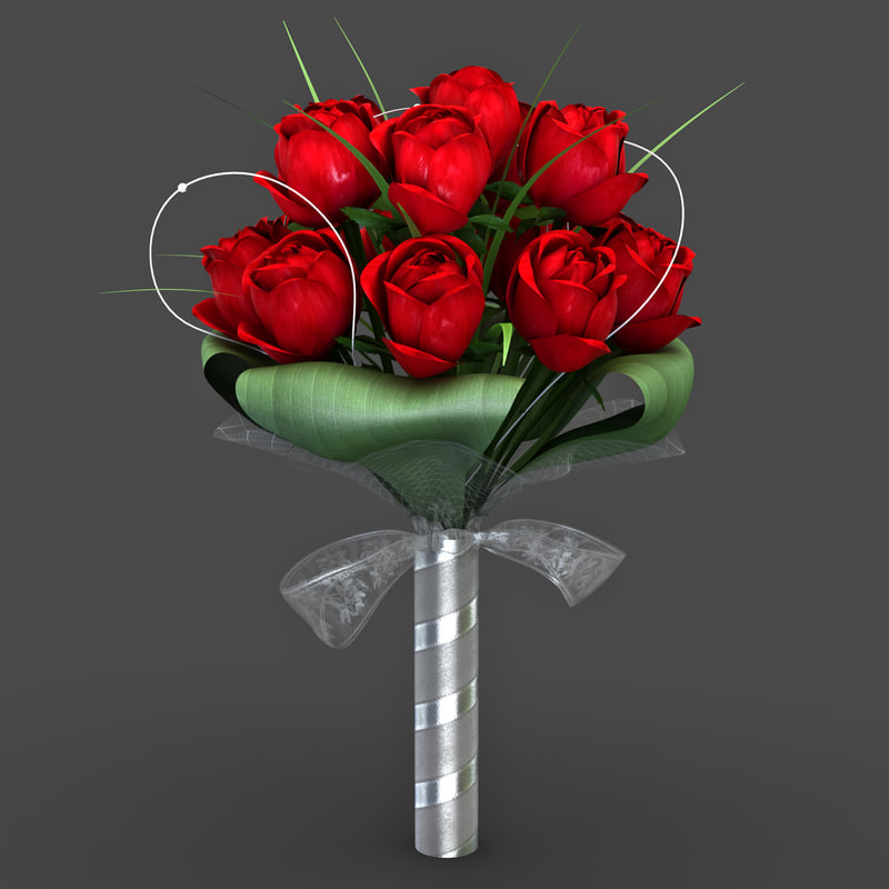 bouquet modelled 3d model