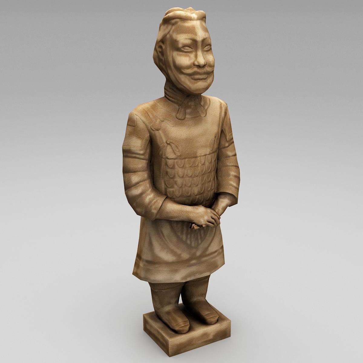 3d model china terracotta warrior