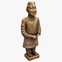 3d model china terracotta warrior