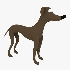 cartoon dog santa little 3d model