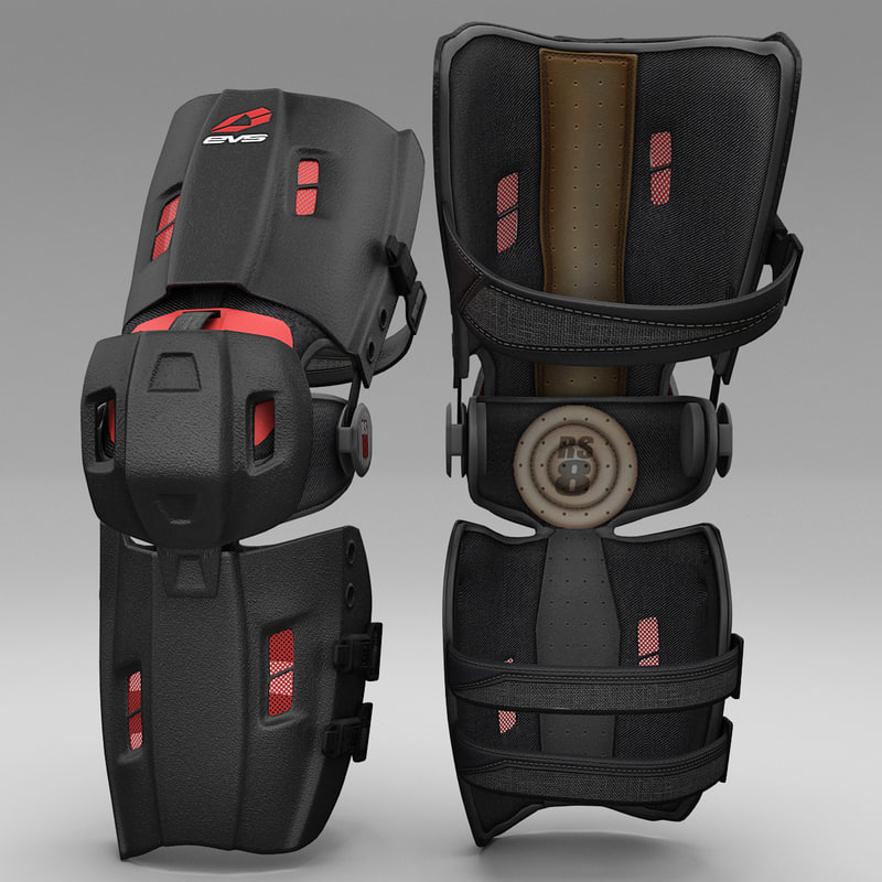 3ds max motocross knee brace evs