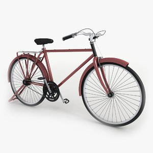 3d model bike red