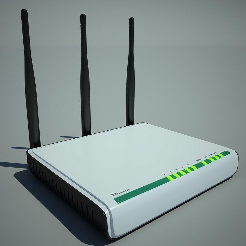 router tenda w303r 3d model
