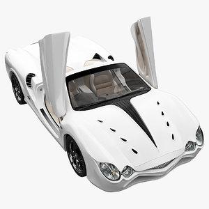 realistic sport car mitsuoka 3d model