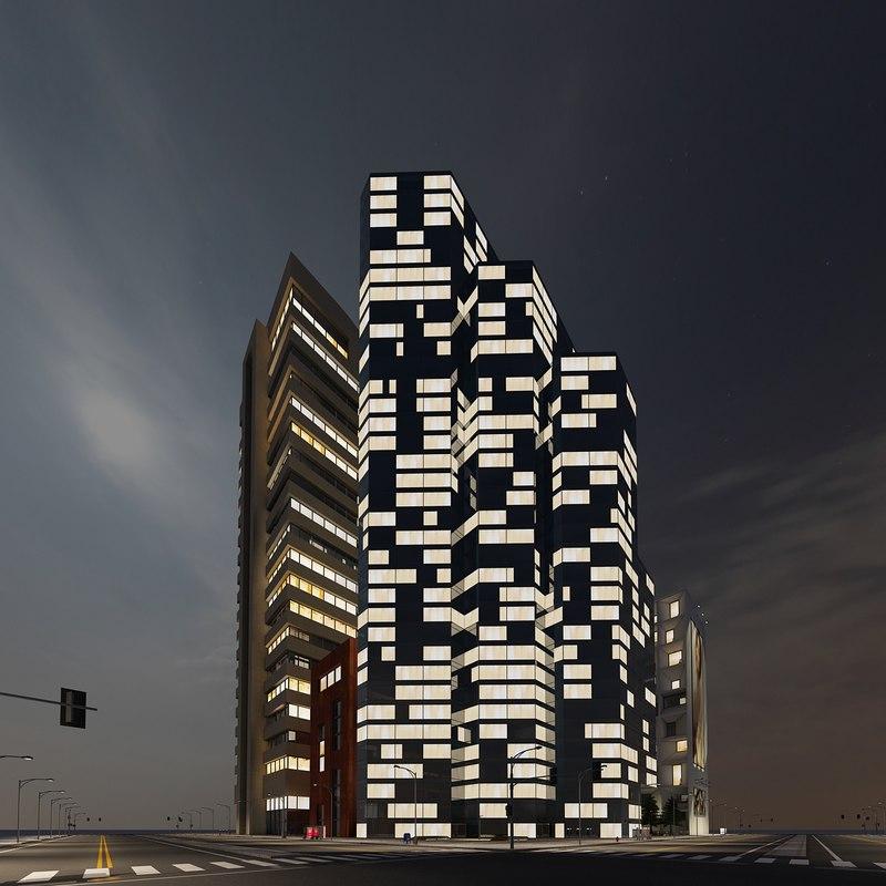 3d model new city block 11