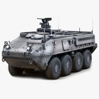 3d max stryker icv military vehicle
