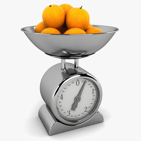 3d model kitchen scales