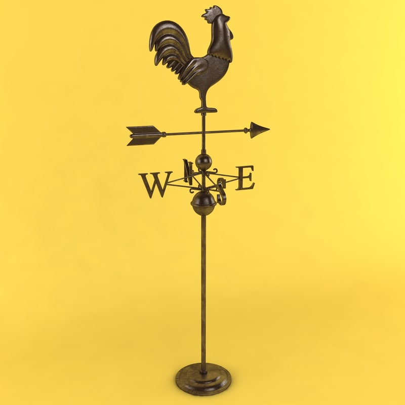 3ds max rooster weathervane weather