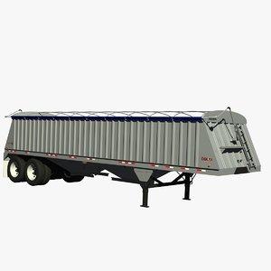 3d dakota 36ft grain trailer model