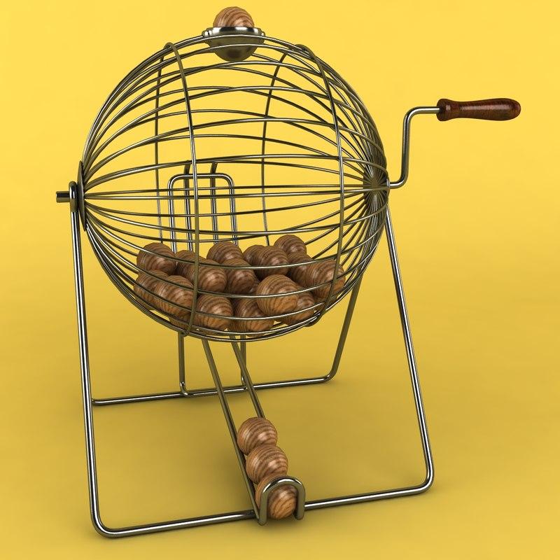 3d vintage wire bingo model