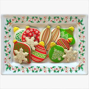 3d model holiday cookies ornament