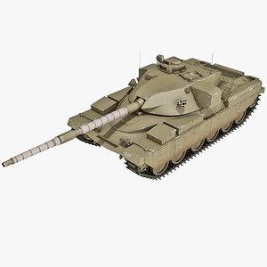 3d uk chieftain battle tank