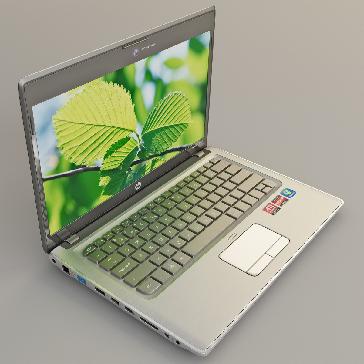 3d laptop hp pavilion computer screen model