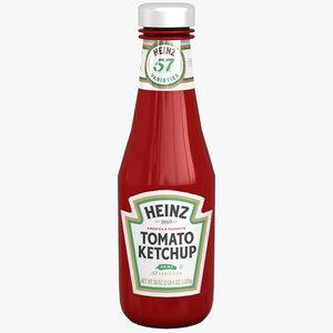 ketchup bottle heinz 3d max