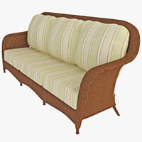 outdoor rattan sofa interior 3d model