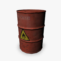 3d model barrel ready