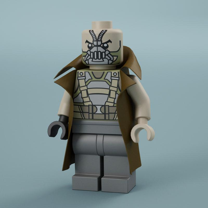 3d model lego bane