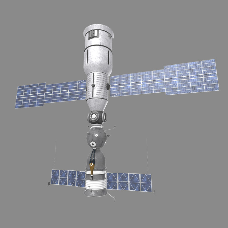 3d soyuz station docking
