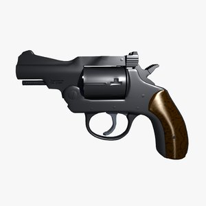 3d revolver iver johnon 32 model