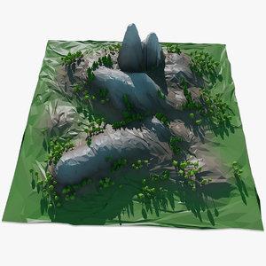 mountain landscape trees 3d max