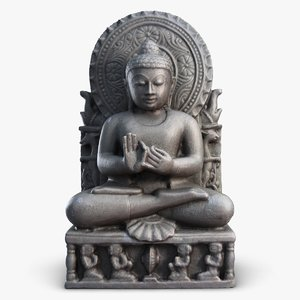 indian statuette india 3ds