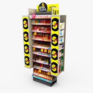 3d model retail end cap -