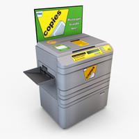 3d model retail photocopier -