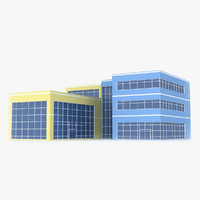 corporate office building 3d model