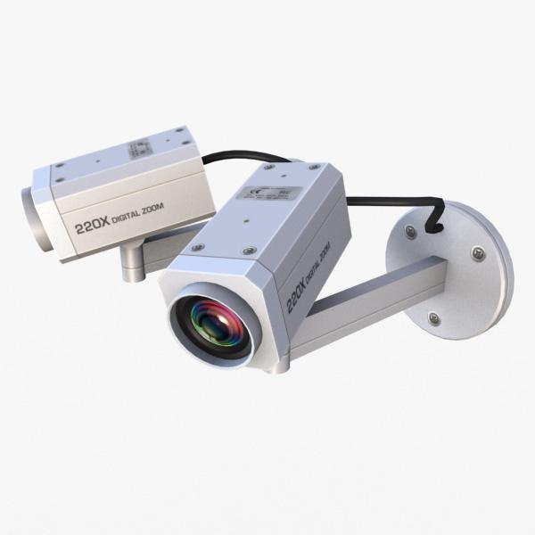 3dsmax retail security cameras -
