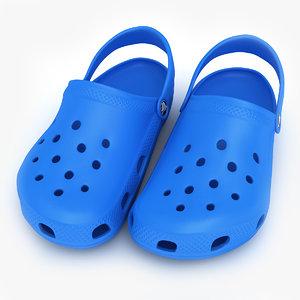 crocs shoes sandals clogs 3d 3ds