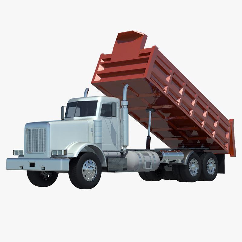 3ds max american dump truck unloaded